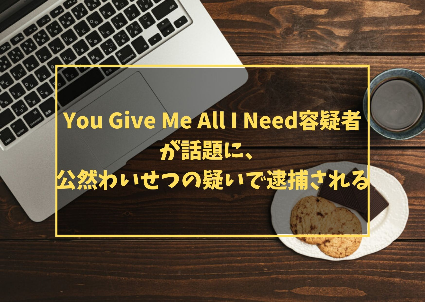 You Give Me All I Need容疑者が話題に、公然わいせつの疑いで逮捕される